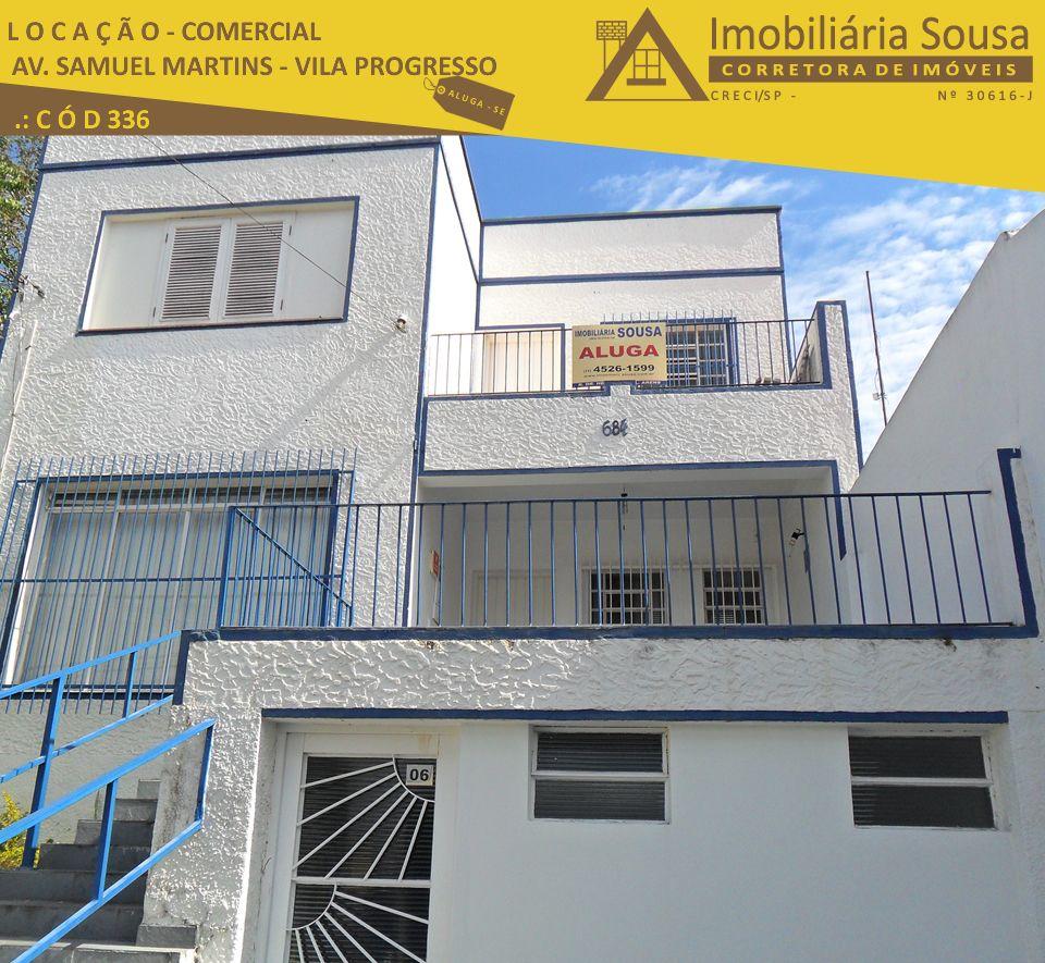 Casa – Comercial – Vila Progresso – Locação