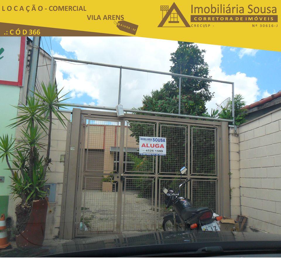 Salão Comercial – Locação – Comércio – Vila Arens